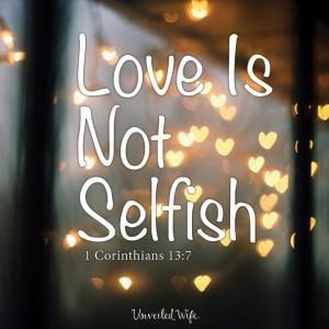 Unselfishness 1