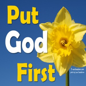 Put God First