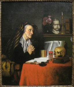 An Old Woman Praying Nicolaes Maes