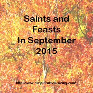 September saints and feasts