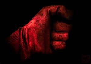gloved fist