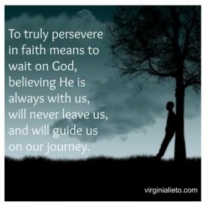 Perseverance in Faith