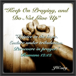 Persevere in Prayer