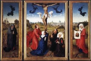 crucifixion triptych rogier van der weyden