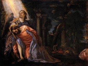 christ in the garden of gethsemane 1584 Paolo Veronese