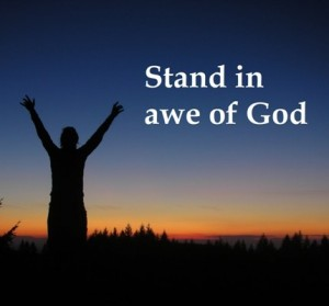stand in awe